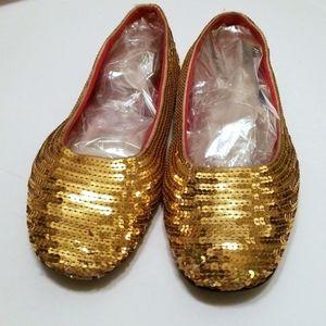 Old Navy Gold Glitter Ballet Flats size 11